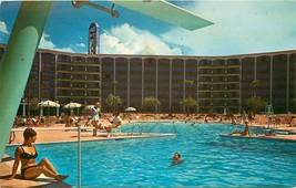 Chrome Postcard NV I532 Cancel 1970 Frontier Hotel Las Vegas Strip Woman... - $7.25