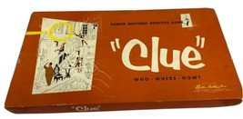 Vintage Parker Brothers CLUE Board Game, 1950, In Original Box - $23.75