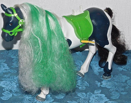 """Horseland DIC THINKWAY Talking Horse Button Horse 11"""" long GREEN WHITE H... - $33.47"""