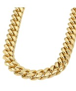 Thick Heavy Men's Gold Cuban Link Chain Necklace - £24.54 GBP+