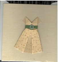 Greeting Card With Envelope Blank Inside (Dress)  by Ten Bamboo Studios - $8.95
