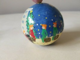 Vintage Christmas Ornament Ball Hand Painted Blooming dale's Bloomingdal... - $9.70