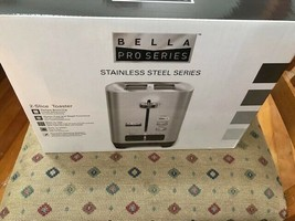 Bella - Pro Series 2-Slice Wide/Self-Centering-Slot Toaster -Stainless Steel-NEW
