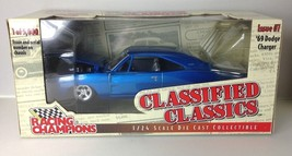 Racing Champions blue 1969 Dodge Charger DIECAST SCALE 1:24 - $24.99