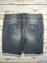 SILVER JEANS SHORTS Mid Rise Eden Denim Stretch Jean Bermuda Short 32  - $29.97