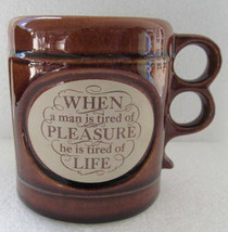 "Vintage ""When man Is tired of pleasure he Is tired of Life"" ARAMIS Ceram... - $15.99"