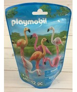 Playmobil Zoo Animals Flamingo Family Pack 12 Pieces 6651 New - $7.69