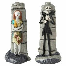The Nightmare Before Christmas Jack Sally Standing Ceramic Salt & Pepper... - $19.34