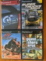Gta San Andreas GT3 Turismo Super Trucks & Atv Racing Sony PS2 Play Station Lot - $29.99