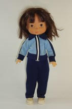 1978 Vintage Fisher Price My Friend Mandy Jenny #212 Doll in Blue Track Outfit - $21.11