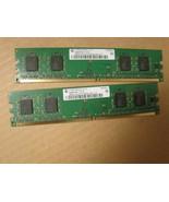 2X 256mb PC2-4200U RAM Memory HYS64T32000HU-3.7-A Infineon desktop 512mb... - $4.46