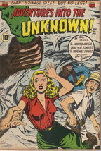 Adventures Into The Unknown Comic Book #14, ACG 1951 FINE+ - $140.21