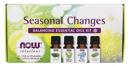 NOW Solutions - Seasonal Changes Balancing Essential Oils Kit - 4 Bottles - $17.55