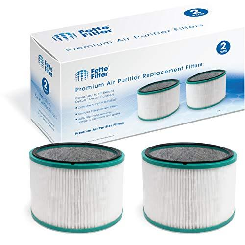 Fette Filter HEPA Filter Compatible with Dyson HP01, HP02, DP01 Desk Purifiers.