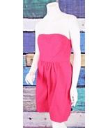 New Kensie 8 ModCloth Pink Polka Dot Retro Pinup Strapless Sun Dress Sun... - $34.64