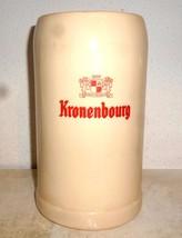 Kronenbourg Strassburg Alsace 1L Masskrug French Beer Stein - $19.95