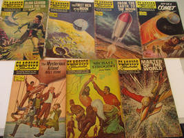Science Fiction Comic Book Lot Classics Illustrated HG Wells Jules Verne... - $26.07