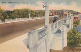 1946 Reading Pennsylvania PA Penn Street Bridge Postcard Linen Colourpicture - $3.53