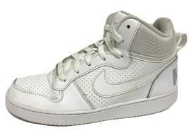 Nike Court Borough youth kids sneakers white hi top leather size US 6.5Y - $28.48