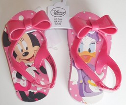 Disney Minnie Mouse Daisy Duck Girls 5/6 Toddler Sandals Pink New - $12.86