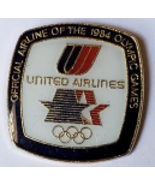 "Vintage UNITED AIRLINES Official Airline to the Olympic Games 7/8"" x 7/8... - $4.95"