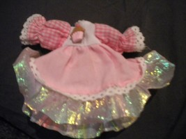"""Vintage 1990's 3"""" Long Pink/White Ice Cream Doll Dress Doll Clothes - $6.93"""