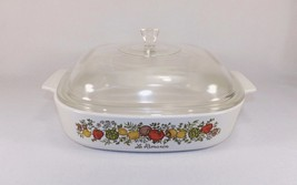 Vintage Spice Of Life Corning Ware A-10-B Covered CASSEROLE/BAKING Dish Vgc - $23.99