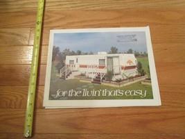 Oak Park Fleetwood Trailer Poster Vintage Dealer sales brochure - $14.99