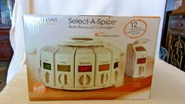 NEW Kitchen Art SELECT-A-SPICE Adjust-A-Spoon Carousel White  - $79.20