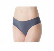 DKNY Seamless Litewear Thong, Grey, Medium - $15.83