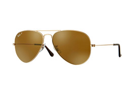 Ray Ban Sunglasses Aviator RB3025 001/57 Gold Frame w/Brown Polarized lens - $154.95