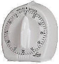 Lux Minder, White, 60 Minute Cooking Timer, Long Loud Ring - $13.36