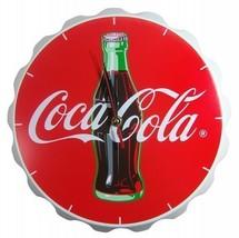 Coca-Cola Wood Contour Bottle Crown Clock - $23.33