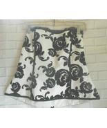 White House Black Market  Size 6 Black White Cotton Blend Strapless Top ... - $18.46