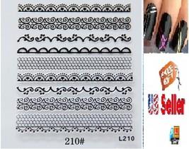 G3:Nail Art Manicure Tips Sticker w/Free 2PCS Rolls Striping Tape Line Nail Tips - $2.97
