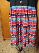 Eileen Scott Dallas Dress Size 8 Multi-Colored Vintage  image 4