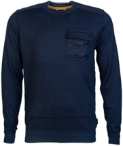 $175 Ted Baker Saysay Long Sleeve Crew Neck with Patch Pocket,SIZE 6,NAVY - $69.27