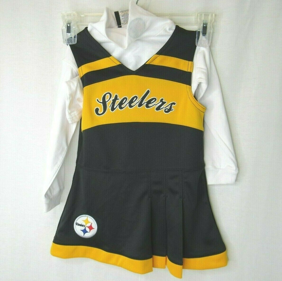 Primary image for Pittsburgh Steelers Cheerleader Dress Jumper Turtle Neck 3T NFL Team Apparel NWT