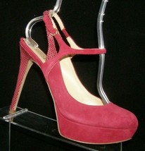 Ivanka Trump 'Taran' purple suede round toe slingback platform heels 9.5M - $46.39