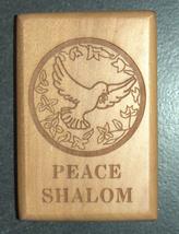 Israel Olive Wood Small Magnet Judaica Messianic Menorah Jerusalem Peace Dove image 8