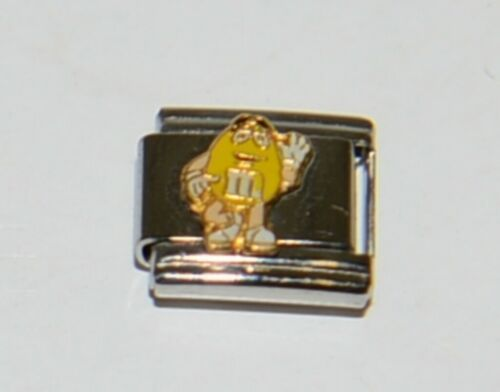 Casa DOro 9297 Yellow M and M Character Link Italian Charm Stainless Steel
