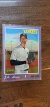 2019 HERITAGE HIGH HOT BOX CHROME PURPLE REFRACTOR J.A. HAPP YANKEES THC... - $7.99