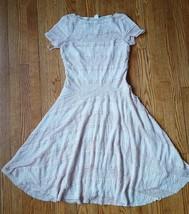 SANGRIA Tan Beige Cream Ruffle Lace Sheath A Line Solid Dress Womens Siz... - $12.33