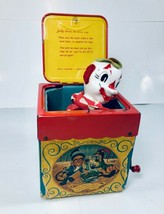Vintage Early 1950's Mattel JOLLY-TUNE The Clown Jack In The Box - $24.70