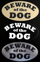 BEWARE OF DOG sign / plaque for door or gate - choose color and size - $5.99+