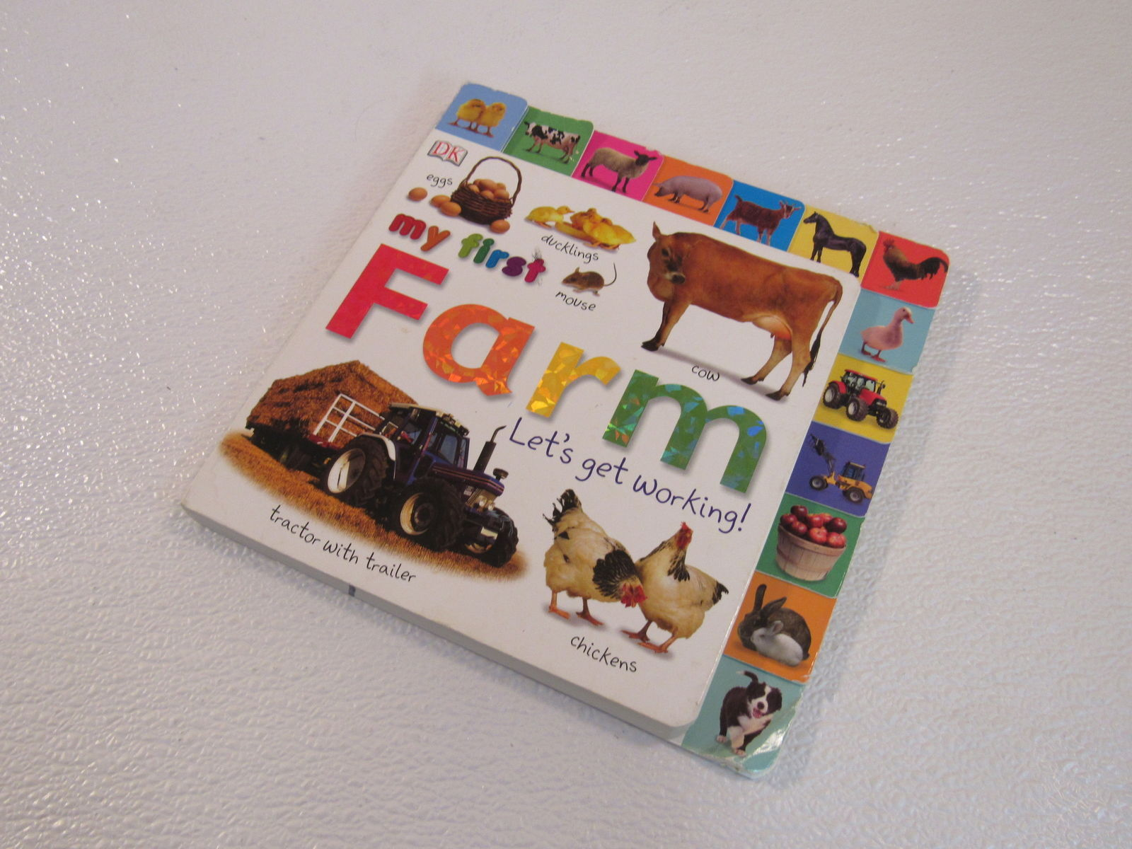DK Publishing My First Farm Lets Get Working Tabbed Board Book