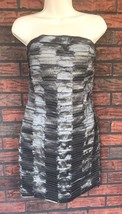 Romeo & Juliet Couture Large Charcoal Gray Strapless Party Dress Cocktai... - $29.70