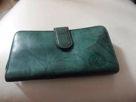 Green Buxton top grain cowhide clutch wallet  - $16.50