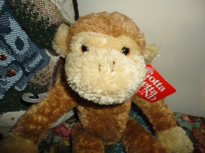 Gund YORTY MONKEY Plush Toy 11 inch 2000