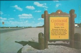 Continental Divide Marker -Postard - $2.00